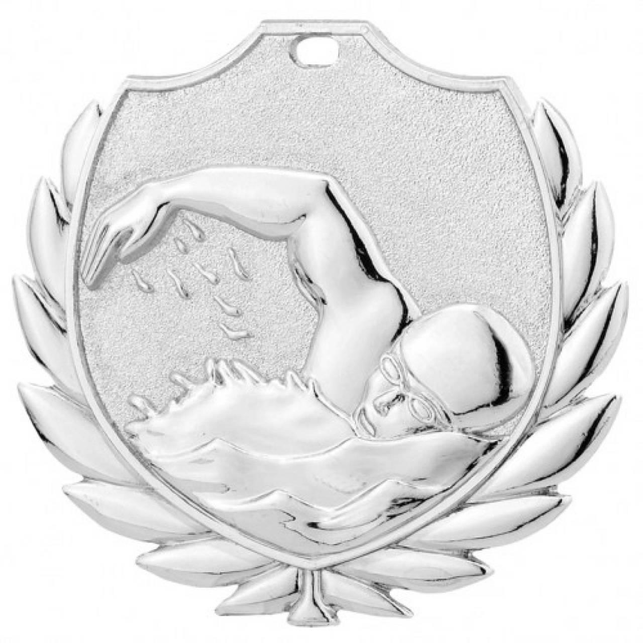 Medaille 3D Schwimmer 50 mm