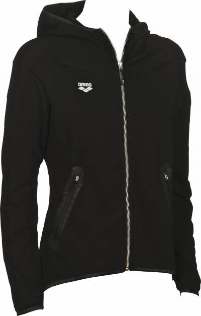 W GYM HOODED F/Z JACKET