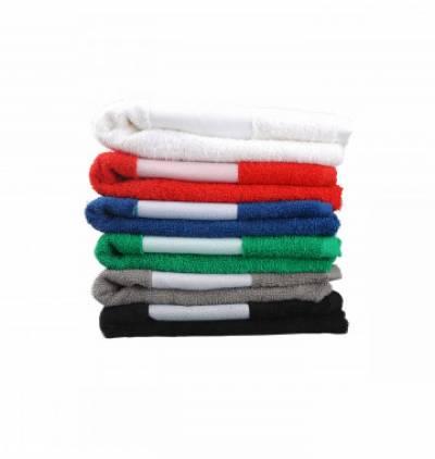 Handtuch aus Baumwolle mit bedruckbarer Polyester-Bordüre