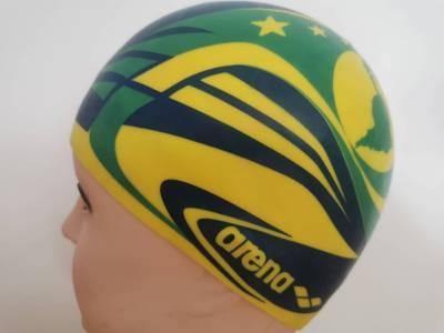 Badekappe Brasilien  3-D Flag