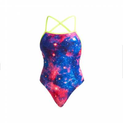 Funkita Damen Strapped In One Piece Cosmos Badeanzug