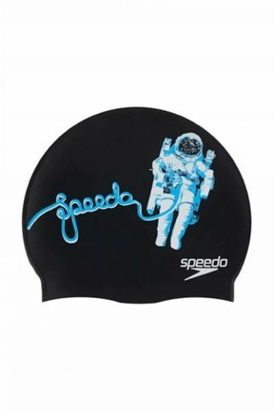 Speedo Slogan Print Cap Silikon Badekappe